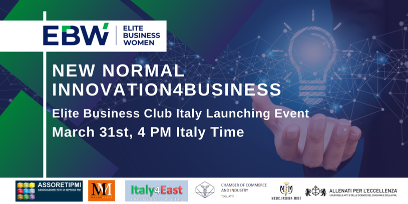 "31 Marzo, diretta online, da EBW: ""NEW NORMAL INNOVATION4BUSINESS"""