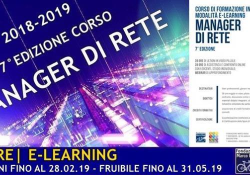 CORSO DI FORMAZIONE PER MANAGER DI RETE 7^ Edizione