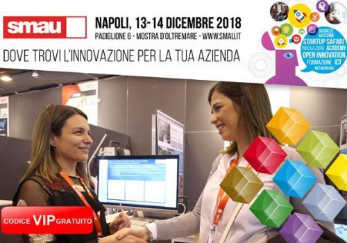 """13-14 Dicembre SMAU NAPOLI: """"RETI D'IMPRESA 4.0 Turismo, Cultura e Agrifood: innovazione, ricerca e blockchain""""."""