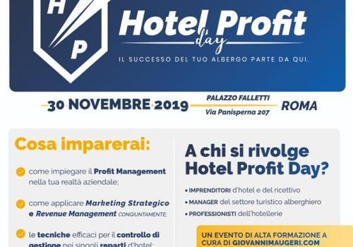 30 Novembre, Roma: Hotel Profit Day