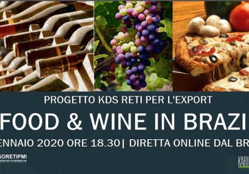 13 Gennaio, diretta online: PROGETTO FOOD & WINE IN BRAZIL |