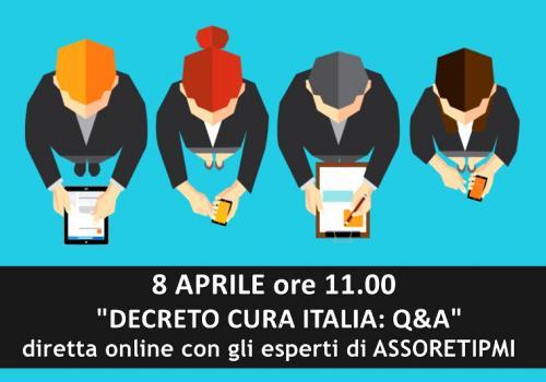 """Diretta """"Decreto Cura Italia""""  con gli esperti di ASSORETIPMI"""