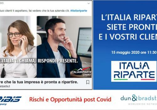 """15 Maggio, Webinar gratuito, CRIBIS: """"L'ITALIA RIPARTE. SIETE PRONTI? E I VOSTRI CLIENTI?"""""""