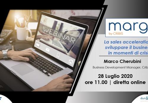 """28 Luglio, Webinar gratuito con CRIBIS """"MARGO', LA SALES ACCELERATION: SVILUPPARE IL BUSINESS IN MOMENTI DI CRISI"""""""