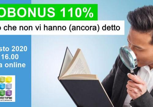 """5 Agosto, Webinar gratuito """"ECOBONUS 110: TUTTO QUELLO CHE NON VI HANNO ANCORA DETTO"""""""