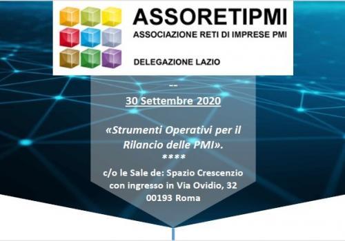"""30 Settembre, Roma: """"Strumenti Operativi per il Rilancio delle PMI"""""""
