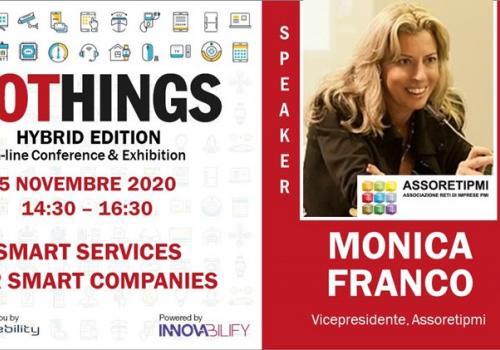 """5 Novembre, IOTHINGS, Special Session """"SERVIZI SMART PER AZIENDE ITALIANE SMART"""""""