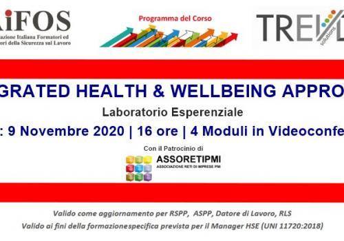 "9 Novembre: Start Laboratorio Esperenziale ""INTEGRATED HEALTH & WELLBEING APPROACH"""