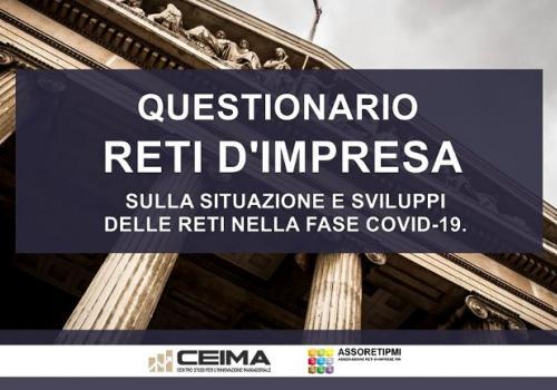 Questionario sulla situazione delle Reti d'Impresa nella fase COVID-19.