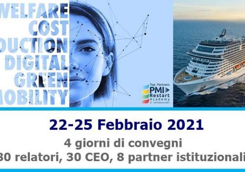 PMI RESTART ACADEMY Comunicato Stampa Evento 22-25 Febbraio