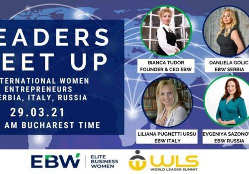 "29 Marzo, Conference ""LEADERS MEET UP"". International Women Entrepreneurs."