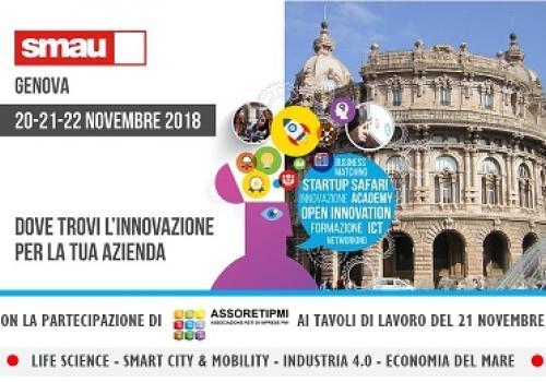 20-21-22 Novembre, SMAU Genova: Life Science, Smart City, Mobility, Industria 4.0 e Economia del mare