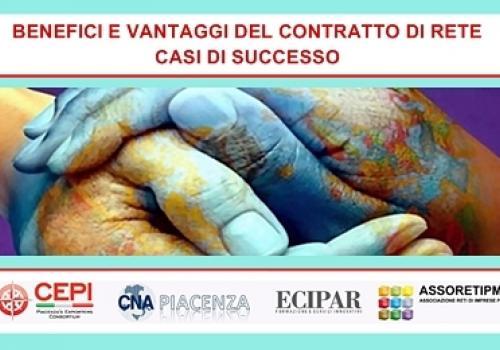 """14 Novembre, Piacenza """"Benefici e vantaggi del Contratto di Rete: Casi di successo"""""""