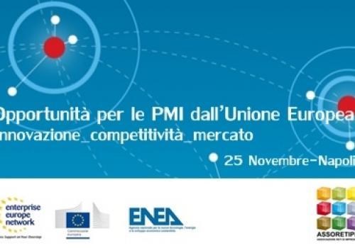 """25 Novembre, Napoli: """"Opportunità per le PMI dall'Unione Europea"""""""