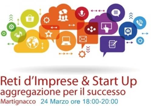 24 Marzo, Martignacco (UD): RETI DI IMPRESE E START UP. Aggregazione per il successo