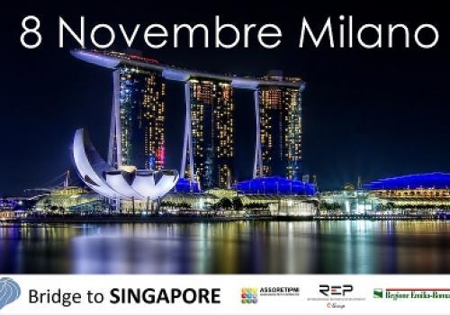 """8 Novembre, Milano """"Contract in Far East: Bridge to Singapore"""" internazionalizzazione PMI e Reti settore Living&Building"""